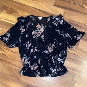 Lily White Tops - Mesh Floral Crop
